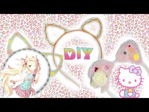 Как сделать ушки кошки из кружева