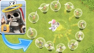 """Clash of clans - IMMORTAL GIANT SKELETON!!! """" TROLL ATTACK"""""""