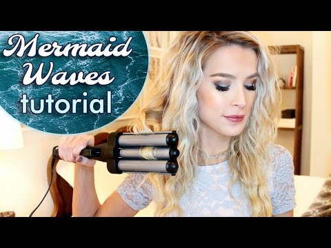 Easy Mermaid Waves Hair Tutorial   leighannsays