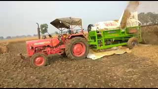 Multi crop crusher with mahindra tractor