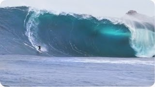 GIGANTIC Surf Wipeout   EPIC Riding Giants Wave