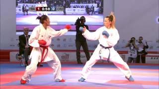 Ana LENARD vs Lucie IGNACE. FINAL Female Kumite -61kg. European Karate Championships 2015