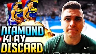FIRE! NEW LINEUP UPDATE! DIAMOND KLAY THOMPSON DISCARD FORFEIT! NBA 2K16 MyTeam Gameplay