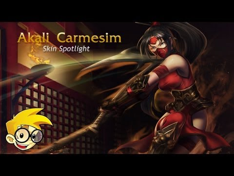 League of Legends Skin Spotlight - Akali Carmesim