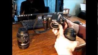 How to Change a Lens on a Digital SLR Camera (Nikon D80)