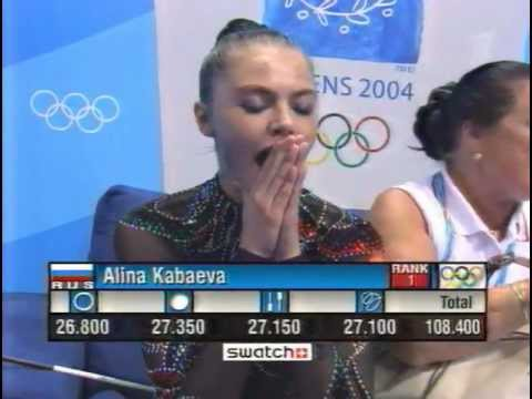 Alina Kabaeva (RUS) interview after the Olympic Games in Athens, 2004
