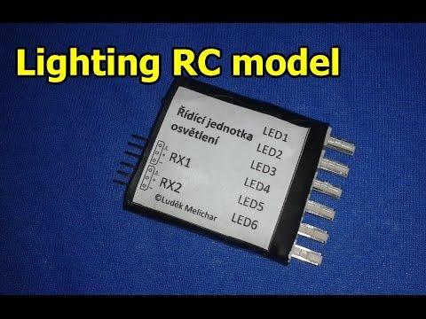 Osvětlení RC letadla/Lighting RC model