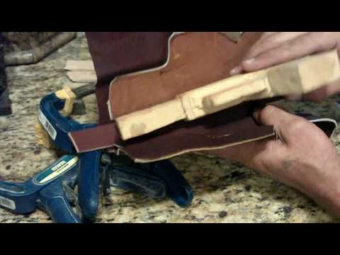 How To Make a Homemade. Hand Stitched. Custom Leather Glock Holster. Part 1