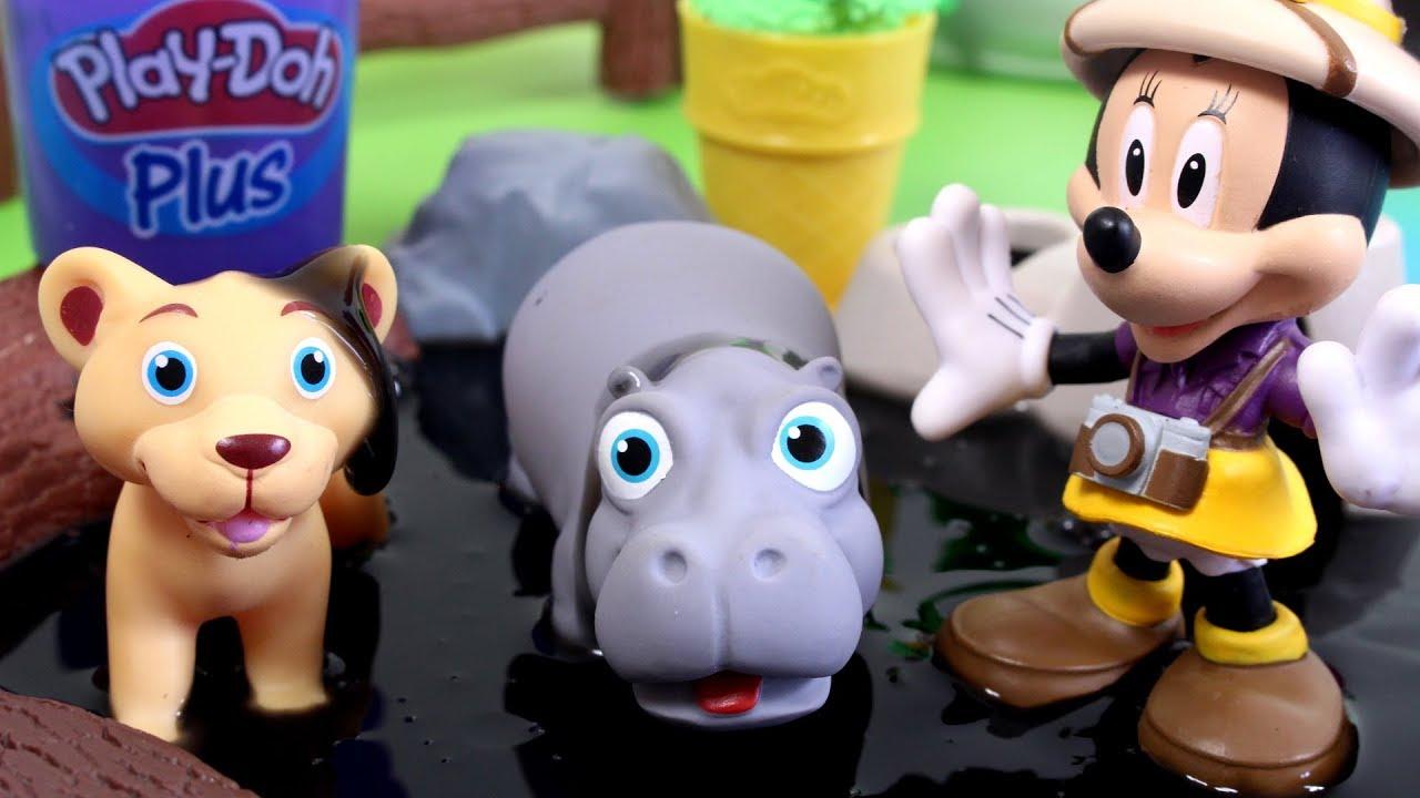 Myszka Minnie • Play Doh • Kąpiel w Slime • bajka po polsku