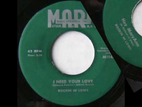 ROCKIN HI LOWS - HEY MARYANN / I NEED YOUR LOVE - MARK 114 - 1957