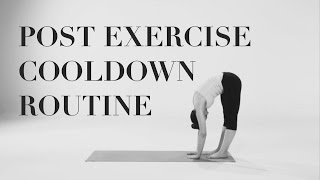 Post exercise cooldown routine | ProfessionalBabe