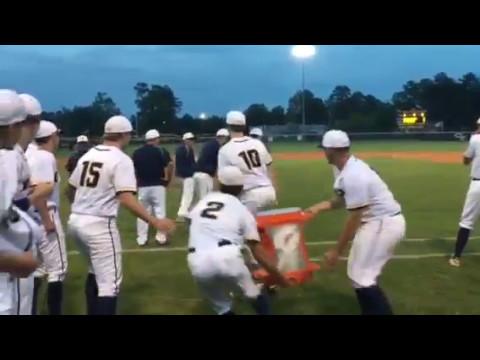 Cape Fear baseball: Gatorade bath