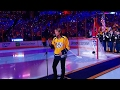 Keith Urban sings Star Spangled Banner before Game 3 -