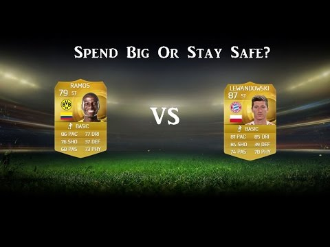 FIFA 15 Ultimate Team - Spend Big Or Stay Safe #1 Adrian Ramos VS Lewandowski!