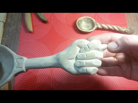Деревянная ложка Как вырезать ложку из дерева Резьба Wood Carving