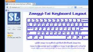 How to install Zawgyi Keyboard for Shan Unicode[shanload.com]
