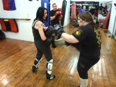 Kickfit Martial Arts Academy,Nottingham,UK. Progressive Kickboxing class (Jun Fan Kickboxing) Image 1
