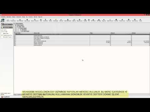 VEGA Yazılım Yevmiye Defteri Yazdırma İşlemi-2