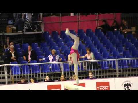 Nadine JAROSCH GER, Beam, Team Final, European Gymnastics Championships 2012 (Partial)