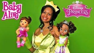 Disney Princess Tiana Toddler with Princess Tiana + Baby Alive !    Disney Toy Reviews    Konas2002