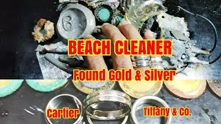 Beach Cleaner Found Gold and Silver- Using Metal Detector