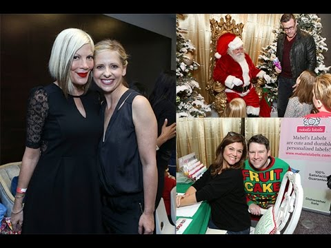 Sarah Michelle Gellar, Tori Spelling & Dean McDermott: Hollywood Christmas 2014