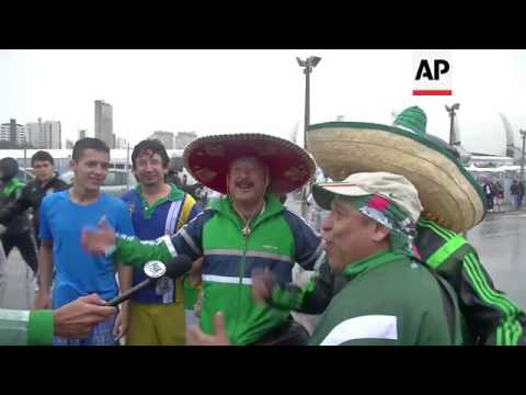 Mexicans celebrate World Cup victory against Cameroon