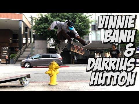 VINNIE BANH & DARRIUS HUTTON CRAZY SKATE DAY !!! - NKA VIDS -
