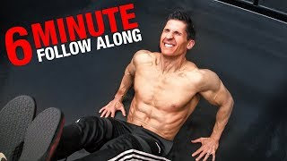 Brutal Lower Ab Workout | 6 Minutes (FOLLOW ALONG!)