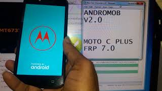 Motorola Moto C Plus XT1721 Google account bypass Frp reset 2018