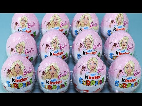 12 x Kinder Surprise - Pink Eggs - Barbie Toys for Girls