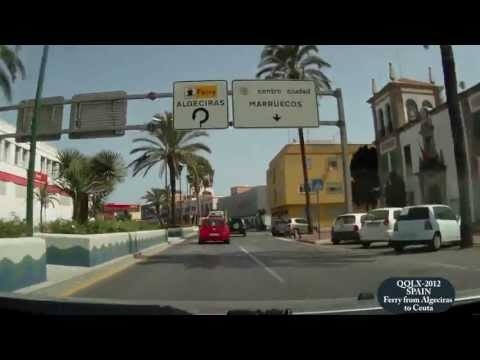 0039 SPAIN Ferry from Algeciras to Ceuta - Street View Car 2012 Driving Through