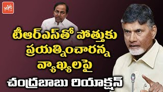 Chandrababu Reacted on TDP TRS Alliance Rumors in Telangana Elections | CM KCR
