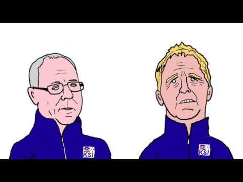 Mr Roy and Gary Neville - England v Iceland, Euro 2016