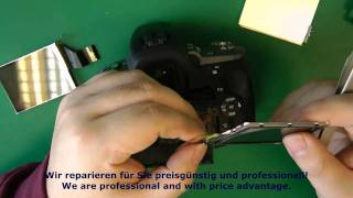 1B55-1B23 Reparatur Kameras Sony Alpha a330 a380 - Display Umtausch Replace Display Repair