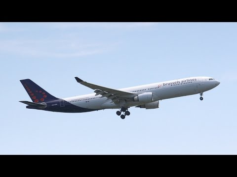Brussels Airlines A330-300 Landing at John F. Kennedy International Airport
