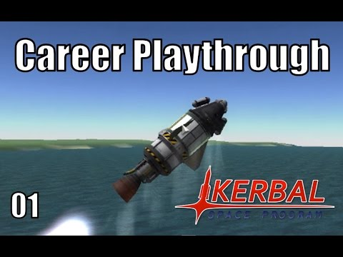 Kerbal Space Program - Episode 1 - Career Mode - Science Gathering Missions