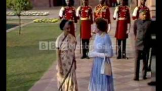 Queen Elizabeth II and Indira Gandhi