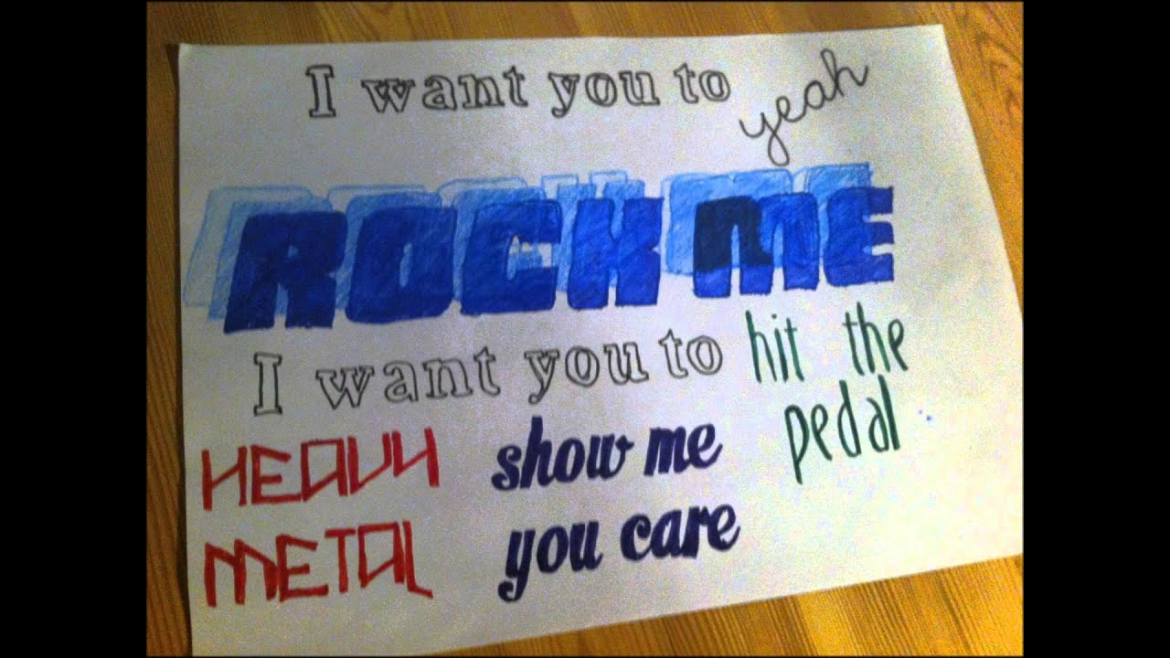 One Way or Another Lyrics Drawing Rock me One Direction Lyric