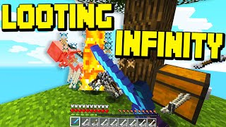 Minecraft SKYBLOCK but i have LOOTING INFINITY! ($30 MILLION A MINUTE)