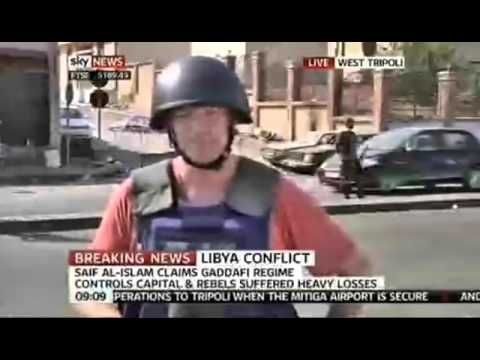 Fake Lie News report from Tripoli - Sky News
