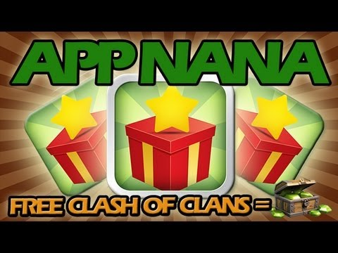 How to get FREE GEMS on Clash of Clans using App Nana + Epic Raid!