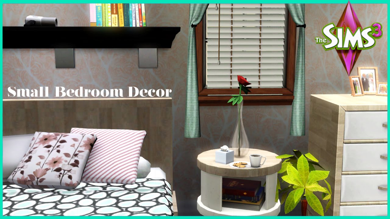 The sims 3 small bedroom decor youtube for Room decor 3