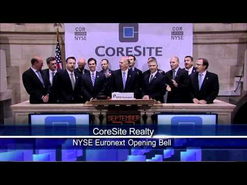 23 Sept 2010 CoreSite Realty Corporation Celebrates Initial Public Offering on the NYSE