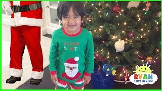 Ryan Pretend Play Opening Christmas Presents Early!!!!
