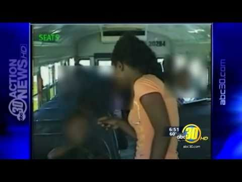 Mother Slaps School Bus Bully video