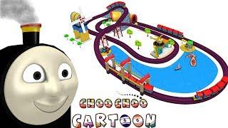 Choo Choo Cartoon Toy Train City for Kids