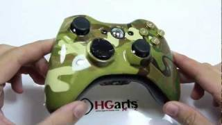 Multicam Edition with Bullet Buttons / Botones Bala - XBOX360 Controllers | HG Arts Modz