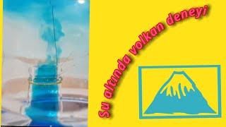 Okul öncesi su altında yanardağ deneyi/underwater volcano experiment