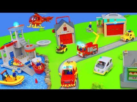 Feuerwehrmann Sam Unboxing: Neue Spielzeugautos, Jupiter Feuerwehrautos & Truck Station für Kinder